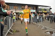 3 June 2012; Leitrim captain Paddy Maguire leads his team out onto the pitch for the start of the game. Connacht GAA Football Senior Championship Quarter-Final, London v Leitrim, Emerald Park, Ruislip, London. Picture credit: Diarmuid Greene / SPORTSFILE