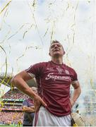 3 September 2017; Galway's Joe Canning watches on as captain David Burke lifts the Liam MacCarthy cup following the GAA Hurling All-Ireland Senior Championship Final match between Galway and Waterford at Croke Park in Dublin. Photo by Ramsey Cardy/Sportsfile