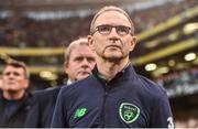 5 September 2017; Republic of Ireland manager Martin O'Neill prior to the FIFA World Cup Qualifier Group D match between Republic of Ireland and Serbia at the Aviva Stadium in Dublin. Photo by David Maher/Sportsfile