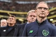 5 September 2017;  Republic of Ireland manager Martin O'Neill during the FIFA World Cup Qualifier Group D match between Republic of Ireland and Serbia at the Aviva Stadium in Dublin. Photo by David Maher/Sportsfile