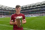 3 September 2017; Jack Canning of Galway with the Irish Press Cup after the Electric Ireland GAA Hurling All-Ireland Minor Championship Final match between Galway and Cork at Croke Park in Dublin. Photo by Piaras Ó Mídheach/Sportsfile