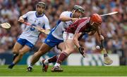 3 September 2017; Conor Whelan of Galway in action against Noel Connors of Waterford during the GAA Hurling All-Ireland Senior Championship Final match between Galway and Waterford at Croke Park in Dublin. Photo by Piaras Ó Mídheach/Sportsfile