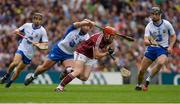 3 September 2017; Conor Whelan of Galway in action against Noel Connors of Waterford, supported by team-mates Jamie Barron, left, and Pauric Mahony during the GAA Hurling All-Ireland Senior Championship Final match between Galway and Waterford at Croke Park in Dublin. Photo by Piaras Ó Mídheach/Sportsfile