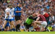 3 September 2017; Joe Canning of Galway is treated for an injury during the GAA Hurling All-Ireland Senior Championship Final match between Galway and Waterford at Croke Park in Dublin. Photo by Piaras Ó Mídheach/Sportsfile