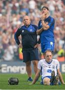 3 September 2017; Waterford manager Derek McGrath, left, and selector Dan Shanahan and Kevin Moran dejected after the GAA Hurling All-Ireland Senior Championship Final match between Galway and Waterford at Croke Park in Dublin. Photo by Piaras Ó Mídheach/Sportsfile