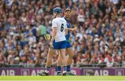 3 September 2017; Waterford selector Dan Shanahan with Austin Gleeson during the GAA Hurling All-Ireland Senior Championship Final match between Galway and Waterford at Croke Park in Dublin. Photo by Piaras Ó Mídheach/Sportsfile