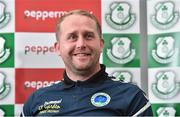 7 September 2017; Bluebell United manager Andy Noonan, and Shamrock Rovers season ticket holder, during a press conference at Tallaght Stadium in Tallaght, Dublin. Photo by Matt Browne/Sportsfile