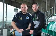 7 September 2017; Shamrock Rovers manager Stephen Bradley, right, and Bluebell United manager Andy Noonan after a press conference at Tallaght Stadium in Tallaght, Dublin. Photo by Matt Browne/Sportsfile