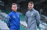 7 September 2017; Tony Griffiths, left, of Bluebell United and Lee Grace of Shamrock Rovers after a press conference at Tallaght Stadium in Tallaght, Dublin. Photo by Matt Browne/Sportsfile