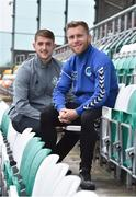 7 September 2017; Tony Griffiths, right, of Bluebell United and Lee Grace of Shamrock Rovers after a press conference at Tallaght Stadium in Tallaght, Dublin. Photo by Matt Browne/Sportsfile