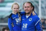 8 September 2017; Bluebell United manager Andy Noonan with his six year old daughter Tessa before the Irish Daily Mail FAI Cup Quarter-Final match between Bluebell United and Shamrock Rovers at Tallaght Stadium in Tallaght, Dublin. Photo by Matt Browne/Sportsfile