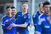 8 September 2017; Bluebell United player Keith Quinn, brother of Republic of Ireland international Stephen Quinn, with his team-mates before the Irish Daily Mail FAI Cup Quarter-Final match between Bluebell United and Shamrock Rovers at Tallaght Stadium in Tallaght, Dublin. Photo by Matt Browne/Sportsfile