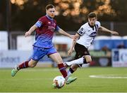 8 September 2017; Sean Gannon of Dundalk in action against Sean Russell of Drogheda United during the Irish Daily Mail FAI Cup Quarter-Final match between Dundalk and Drogheda United at Oriel Park in Dundalk, Co Louth. Photo by Stephen McCarthy/Sportsfile