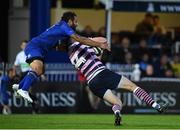 8 September 2017; Isa Nacewa of Leinster tackles Alex Cuthbert of Cardiff for which he was shown a yellow card during the Guinness PRO14 Round 2 match between Leinster and Cardiff Blues at the RDS Arena in Dublin. Photo by Brendan Moran/Sportsfile
