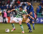 8 September 2017; Michael O'Connor of Shamrock Rovers in action against Glenn Walsh of Bluebell United during the Irish Daily Mail FAI Cup Quarter-Final match between Bluebell United and Shamrock Rovers at Tallaght Stadium in Tallaght, Dublin. Photo by Matt Browne/Sportsfile