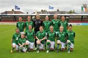 16 June 2012; The Republic of Ireland team. Women's European Championship Qualifier, Republic of Ireland v Wales, Turner's Cross, Cork. Picture credit: Diarmuid Greene / SPORTSFILE