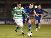 8 September 2017; Trevor Clarke of Shamrock Rovers in action against Keith Quinn of Bluebell United during the Irish Daily Mail FAI Cup Quarter-Final match between Bluebell United and Shamrock Rovers at Tallaght Stadium in Tallaght, Dublin. Photo by Matt Browne/Sportsfile