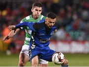 8 September 2017; Dean Ebbe of Bluebell United in action against David McAllister of Shamrock Rovers during the Irish Daily Mail FAI Cup Quarter-Final match between Bluebell United and Shamrock Rovers at Tallaght Stadium in Tallaght, Dublin. Photo by Matt Browne/Sportsfile