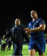 8 September 2017; Cian Healy, left, and Ed Byrne of Leinster leave the field following the Guinness PRO14 Round 2 match between Leinster and Cardiff Blues at the RDS Arena in Dublin. Photo by Ramsey Card/Sportsfile