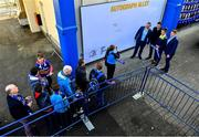 8 September 2017; Leinster fans with Jack McGrath, Robbie Henshaw and Tadhg Furlong in Autograph Alley ahead of the Guinness PRO14 Round 2 match between Leinster and Cardiff Blues at the RDS Arena in Dublin. Photo by Brendan Moran/Sportsfile