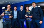 8 September 2017; Fans with Leinster players Sean O'Brien, Jonathan Sexton and Ross Molony in the Blue Room ahead of the Guinness PRO14 Round 2 match between Leinster and Cardiff Blues at the RDS Arena in Dublin. Photo by Brendan Moran/Sportsfile