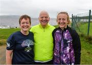 9 September 2017; parkrun Ireland in partnership with Vhi, added their 67th event on Saturday, September 9th, with the introduction of the Buncrana parkrun. parkruns take place over a 5km course weekly, are free to enter and are open to all ages and abilities, providing a fun and safe environment to enjoy exercise. To register for a parkrun near you visit www.parkrun.ie. New registrants should select their chosen event as their home location. You will then receive a personal barcode which acts as your free entry to any parkrun event worldwide. Pictured are Michelle Donaghy, Colm O'Donnell and Elizebeth McDaid. Photo by Oliver McVeigh/Sportsfile
