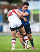 9 September 2017; Niall McEniff of Leinster is tackled by Bruce Houston of Ulster during the U19 Interprovincial Series match between Leinster and Ulster at Donnybrook Stadium in Dublin. Photo by Cody Glenn/Sportsfile