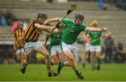9 September 2017; Peter Casey of Limerick in action against Conor Delaney of Kilkenny during the Bord Gáis Energy GAA Hurling All-Ireland U21 Championship Final match between Kilkenny and Limerick at Semple Stadium in Thurles, Co Tipperary. Photo by Brendan Moran/Sportsfile
