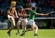 9 September 2017; Colin Ryan of Limerick in action against Kilkenny's John Donnelly, centre, and Richie Leahy during the Bord Gáis Energy GAA Hurling All-Ireland U21 Championship Final match between Kilkenny and Limerick at Semple Stadium in Thurles, Co Tipperary. Photo by Piaras Ó Mídheach/Sportsfile