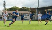 9 September 2017; Niall McEniff of Leinster runs in his side's third try during the U19 Interprovincial Series match between Leinster and Ulster at Donnybrook Stadium in Dublin. Photo by Cody Glenn/Sportsfile