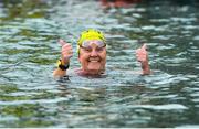 9 September 2017; Anne Marie Bourke of Dublin celebrates after winning the Jones Engineering 98th Dublin City Liffey Swim organised by Leinster Open Sea and supported by Jones Engineering, Dublin City Council and Swim Ireland. Photo by Sam Barnes/Sportsfile