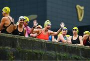 9 September 2017; Competitors including Patricia Heffernan of Glenalbyn Masters, centre, ahead of the Jones Engineering 98th Dublin City Liffey Swim organised by Leinster Open Sea and supported by Jones Engineering, Dublin City Council and Swim Ireland. Photo by Sam Barnes/Sportsfile