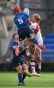 9 September 2017; Ryan Baird of Leinster in action against Niall Armstrong of Ulster during the U19 Interprovincial Series match between Leinster and Ulster at Donnybrook Stadium in Dublin. Photo by Cody Glenn/Sportsfile