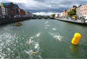 9 September 2017; Competitors during the Women's Race during the Jones Engineering 98th Dublin City Liffey Swim organised by Leinster Open Sea and supported by Jones Engineering, Dublin City Council and Swim Ireland. Photo by David Fitzgerald/Sportsfile