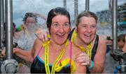 9 September 2017; Bridie Power of Glenalbyn Masters, left, and Lisa Carroll of Meath Masters, after competing in the Jones Engineering 98th Dublin City Liffey Swim organised by Leinster Open Sea and supported by Jones Engineering, Dublin City Council and Swim Ireland. Photo by Sam Barnes/Sportsfile