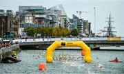 9 September 2017; A general view of the finish during Jones Engineering 98th Dublin City Liffey Swim organised by Leinster Open Sea and supported by Jones Engineering, Dublin City Council and Swim Ireland. Photo by Sam Barnes/Sportsfile
