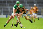 9 September 2017; Martin Keoghan of Kilkenny in action against Robbie Hanley of Limerick during the Bord Gáis Energy GAA Hurling All-Ireland U21 Championship Final match between Kilkenny and Limerick at Semple Stadium in Thurles, Co Tipperary. Photo by Brendan Moran/Sportsfile