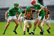 9 September 2017; Martin Keoghan of Kilkenny in action against Robbie Hanley, left, and Barry Nash of Limerick during the Bord Gáis Energy GAA Hurling All-Ireland U21 Championship Final match between Kilkenny and Limerick at Semple Stadium in Thurles, Co Tipperary. Photo by Brendan Moran/Sportsfile