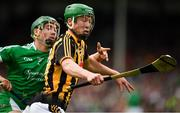 9 September 2017; Martin Keoghan of Kilkenny in action against Sean Finn of Limerick during the Bord Gáis Energy GAA Hurling All-Ireland U21 Championship Final match between Kilkenny and Limerick at Semple Stadium in Thurles, Co Tipperary. Photo by Brendan Moran/Sportsfile