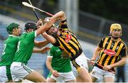 9 September 2017;Alan Murphy of Kilkenny is tackled by Sean Finn, left, and Colin Ryan of Limerick during the Bord Gáis Energy GAA Hurling All-Ireland U21 Championship Final match between Kilkenny and Limerick at Semple Stadium in Thurles, Co Tipperary. Photo by Brendan Moran/Sportsfile