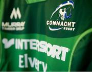9 September 2017; A detailed view of the Connacht jersey crest prior to the Guinness PRO14 Round 2 match between Connacht and Southern Kings at The Sportsground in Galway. Photo by Seb Daly/Sportsfile