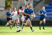9 September 2017; Ruadhan Byron of Leinster is tackled by JJ McKee of Ulster during the U19 Interprovincial Series match between Leinster and Ulster at Donnybrook Stadium in Dublin. Photo by Cody Glenn/Sportsfile