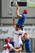 9 September 2017; Ryan Baird of Leinster wins possession in a lineout during the U19 Interprovincial Series match between Leinster and Ulster at Donnybrook Stadium in Dublin. Photo by Cody Glenn/Sportsfile