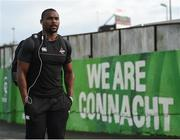 9 September 2017; Luzuko Vulindlu of Southern Kings arrives prior to the Guinness PRO14 Round 2 match between Connacht and Southern Kings at The Sportsground in Galway. Photo by Seb Daly/Sportsfile