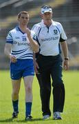 27 May 2012; Eamon McEneaney, Monaghan manager, right, with player Tomas Freeman. Ulster GAA Football  Senior Championship Quarter Final, Monaghan v Antrim, St Tiernach's Park, Clones, Co. Monaghan. Picture credit: Oliver McVeigh / SPORTSFILE