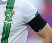 18 June 2012; A general view of the black armband worn by the Republic of Ireland players, in remembrance of the Loughlinisland Massacre, which took place on June 18th 1994. EURO2012, Group C, Republic of Ireland v Italy, Municipal Stadium Poznan, Poznan, Poland. Picture credit: David Maher / SPORTSFILE
