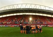 9 September 2017; Cheetahs players huddle together on the pitch after the Guinness PRO14 Round 2 match between Munster and Cheetahs at Thomond Park in Limerick. Photo by Diarmuid Greene/Sportsfile