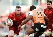 9 September 2017; Dave Kilcoyne of Munster is tackled by Ox Nche of Cheetahs during the Guinness PRO14 Round 2 match between Munster and Cheetahs at Thomond Park in Limerick. Photo by Diarmuid Greene/Sportsfile