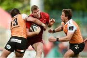9 September 2017; Chris Farrell of Munster is tackled by Francois Venter, left, and William Small-Smith of Cheetahs during the Guinness PRO14 Round 2 match between Munster and Cheetahs at Thomond Park in Limerick. Photo by Diarmuid Greene/Sportsfile