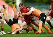 9 September 2017; Chris Farrell of Munster is tackled by William Small-Smith, left, Francois Venter, centre, and Torsten van Jaarsveld of Cheetahs during the Guinness PRO14 Round 2 match between Munster and Cheetahs at Thomond Park in Limerick. Photo by Diarmuid Greene/Sportsfile